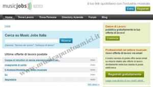 Sito Music Jobs Italia