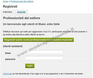 Music Jobs Italia - fase 2