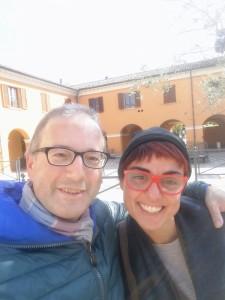 Elena Sanchi con Domenico A. Di Renzo, autore dell'intervista