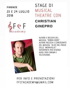 Stage di Musical Theatre con Christian Ginepro
