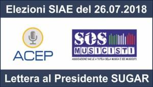 Elezioni SIAE: ACEP e SOS MUSICISTI scrivono al Presidente Filippo Sugar