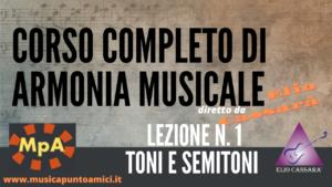 Corso completo di Armonia Musicale - lezione n. 1