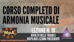 Corso completo di Armonia Musicale - lezione n. 10