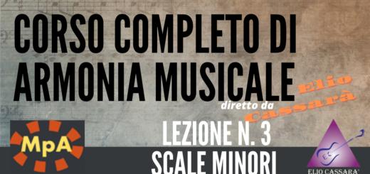 Corso completo di Armonia Musicale - lezione n. 3