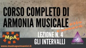 Corso completo di Armonia Musicale - lezione n. 4