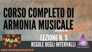 Corso completo di Armonia Musicale - lezione n. 5
