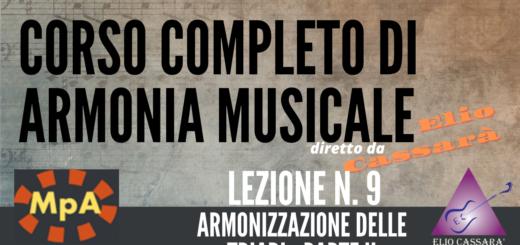 Corso completo di Armonia Musicale - lezione n. 9
